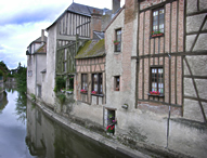 Moat-side Houses - Landscape Photography