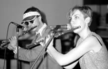 Holy Innocents, Annie Lennox and Tim Wheater playing flutes
