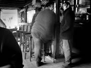 Men at bar in Montrichard, France